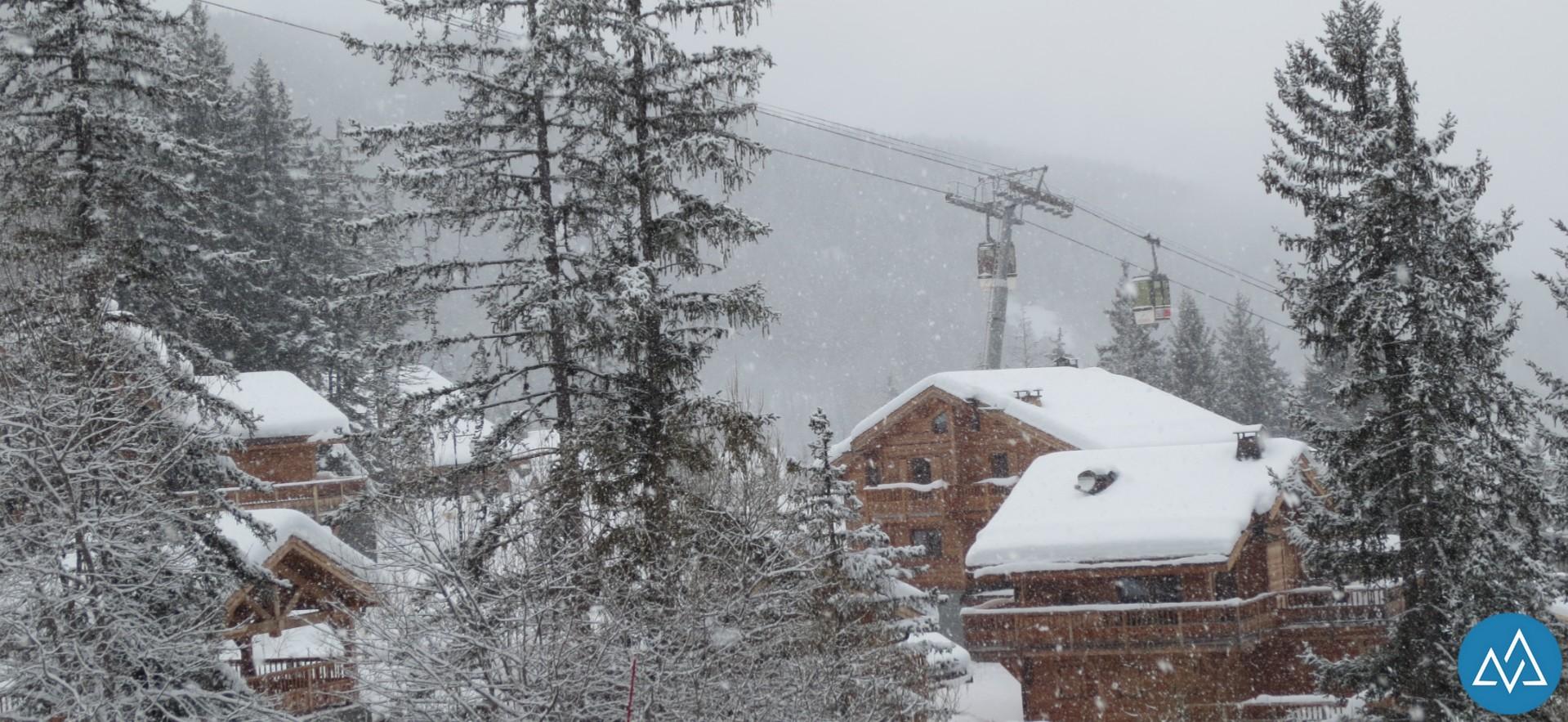 Chalets et neige sont au rendez-vous !
